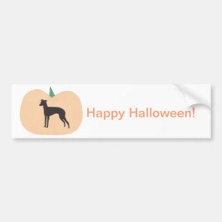 Feliz Halloween Whippet Etiqueta De Parachoque