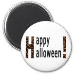 Feliz Halloween y calabazas Imán De Nevera