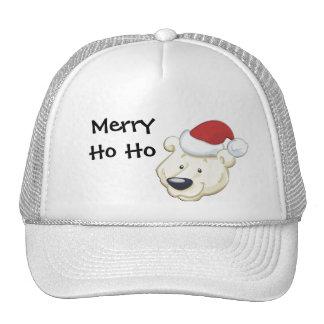 Feliz Ho Ho gorra del oso del navidad