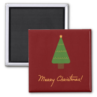 Feliz imán del árbol de navidad
