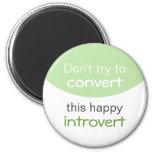 Feliz Introvert Imán De Frigorífico