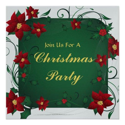 Feliz invitación de la fiesta de Navidad del Poins