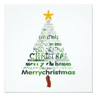 Feliz invitación del fiesta del árbol de navidad