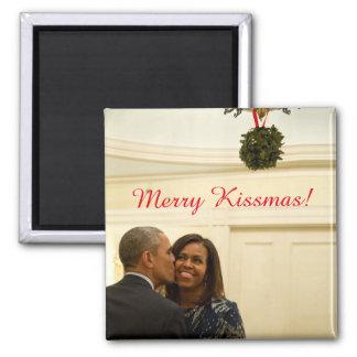 Feliz Kissmas Barack y Michelle - imán
