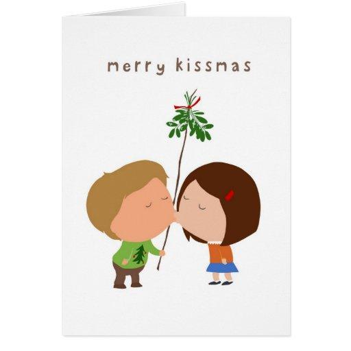 Feliz Kissmas Tarjeta De Felicitación