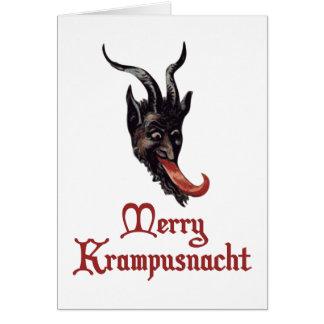 Feliz Krampusnacht Tarjeta De Felicitación