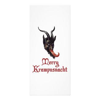 Feliz Krampusnacht Tarjeta Publicitaria A Todo Color