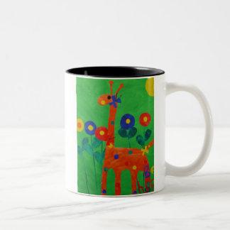 Feliz la taza de café de la jirafa