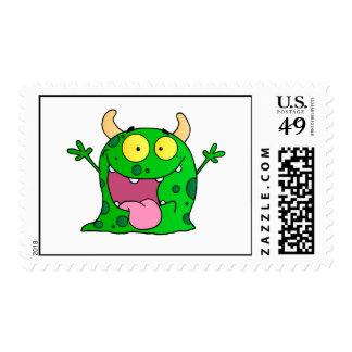 Feliz lindo del dibujo animado cómico divertido sellos