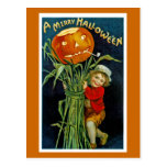Feliz linterna del o de Halloween Jack Tarjeta Postal