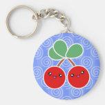 Feliz llavero de Kawaii de las cerezas