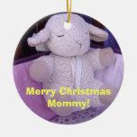 ¡Feliz mamá de Christms! cordero de los ornamentos Adornos
