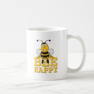 Feliz manosee la abeja taza de café
