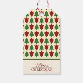 Feliz modelo del árbol de navidad etiquetas para regalos