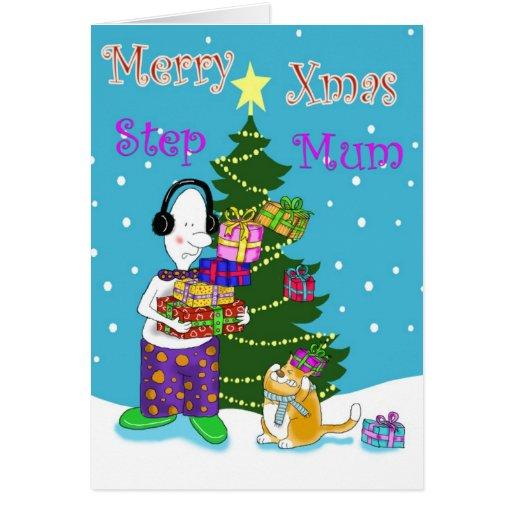 Feliz momia del paso de Navidad Tarjeta De Felicitación