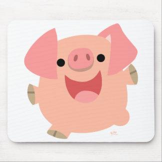 Feliz mousepad del cerdo del dibujo animado tapetes de ratón