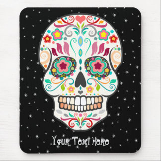 Feliz Muertos - cráneo de encargo Mousepad del
