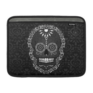 Feliz Muertos - cráneo festivo del azúcar Funda MacBook