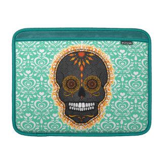 Feliz Muertos - cráneo festivo del azúcar Funda Macbook Air