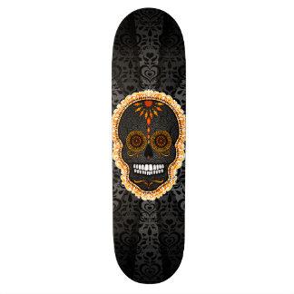 Feliz Muertos - cráneo festivo del azúcar Monopatin Personalizado