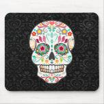 Feliz Muertos - cráneo festivo Mousepad del azúcar