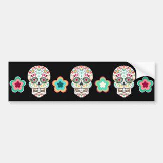 Feliz Muertos - cráneos festivos del azúcar Pegatina Para Auto