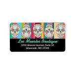 Feliz Muertos - Custom Sugar Skull Address Labels at Zazzle