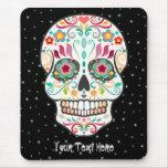 Feliz Muertos - Custom Sugar Skull Mousepad at Zazzle