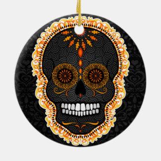 Feliz Muertos - Custom Sugar Skull Ornament