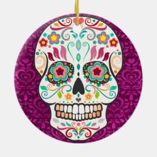 Feliz Muertos - Custom Sugar Skull Ornament Ornaments