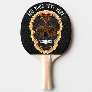 Feliz Muertos - Custom Sugar Skull Ping Pong Paddle