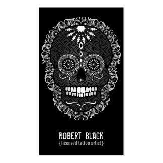 Feliz Muertos - Custom Sugar Skull Vertical Card Business Cards