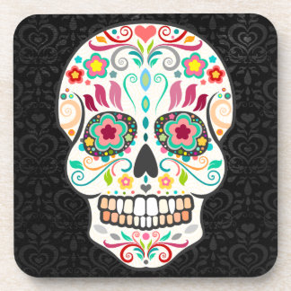 Feliz Muertos - Festive Sugar Skull Coasters