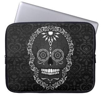Feliz Muertos - Festive Sugar Skull Computer Sleeve