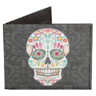 Feliz Muertos - Festive Sugar Skull Tyvek® Billfold Wallet