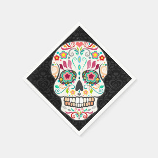Feliz Muertos - Festive Sugar Skull Paper Napkins Paper Napkin