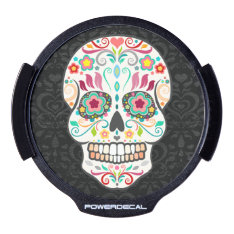 Feliz Muertos - Festive Sugar Skull Power Decal at Zazzle