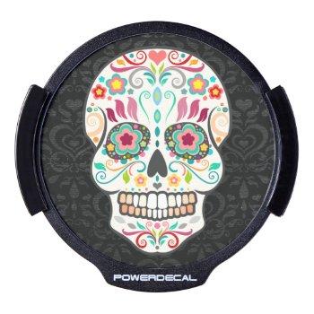 Feliz Muertos - Festive Sugar Skull Power Decal by creativetaylor at Zazzle