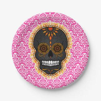 Feliz Muertos - Festive Sugar Skull 7 Inch Paper Plate
