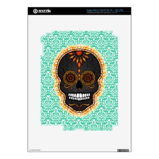 Feliz Muertos - Festive Sugar Skull Decal For iPad 3