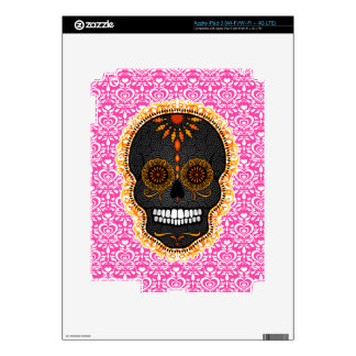 Feliz Muertos - Festive Sugar Skull Decals For iPad 3
