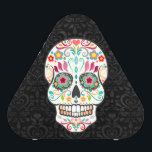"Feliz Muertos - Festive Sugar Skull Speaker<br><div class=""desc"">This fun &amp; festive speaker features a colorful sugar skull design on black damask - click CUSTOMIZE to add your own text</div>"