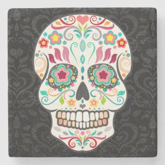 Feliz Muertos - Festive Sugar Skull Stone Coaster