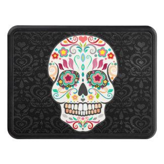 Feliz Muertos - Festive Sugar Skull Trailer Hitch Hitch Cover