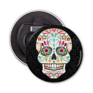 Feliz Muertos - Festive Sugar Skull Button Bottle Opener