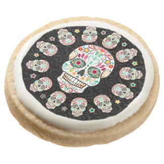 Feliz Muertos - Festive Sugar Skulls Cookies Round Sugar Cookie