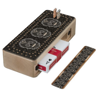 Feliz Muertos - Festive Sugar Skulls Cribbage Game Cribbage Board