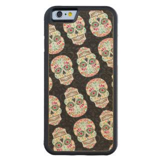 Feliz Muertos Festive Sugar Skulls Wood Phone Case Carved® Maple iPhone 6 Bumper