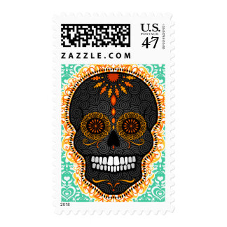 Feliz Muertos - Happy Sugar Skull Postage Stamps