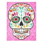 Feliz Muertos - Happy Sugar Skull Postcard at Zazzle